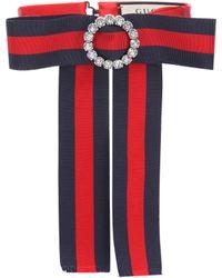 Gucci - Striped Neck Bow - Lyst