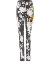 Gucci - Embroidered Stretch-cotton Skinny Jeans - Lyst