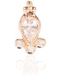 Maria Tash - Diamond Delia Traditional 18kt Rose Gold Single Earring - Lyst