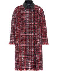 Alexander McQueen - Tweed Wool-blend Coat - Lyst