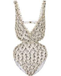 Missoni - Cut-out Crochet Swimsuit - Lyst