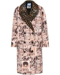Prada - Printed Cotton Coat - Lyst