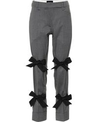 Simone Rocha - Bow-trimmed Stretch Wool Pants - Lyst