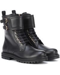 Ferragamo - Ankle Boots aus Leder - Lyst
