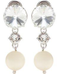 Miu Miu - Crystal-embellished Clip-on Earrings - Lyst