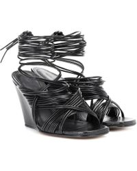 Rick Owens - Tangle Leather Wedge Sandals - Lyst