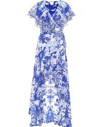 Camilla - Embellished Printed Silk Crepe De Chine Wrap Maxi Dress - Lyst