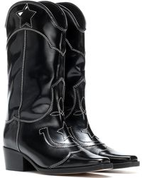 Ganni - High Texas Leather Cowboy Boots - Lyst