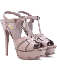 Saint Laurent - Pumps Tribute Patent Leather Pale Pink - Lyst