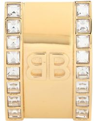 Balenciaga - Crystal-embellished Clip-on Earring - Lyst