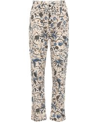 Étoile Isabel Marant - Cameron High-waisted Cotton Trousers - Lyst