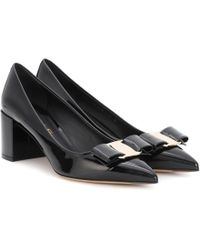 Ferragamo - Alice Vara Bow Patent Leather Court Shoes - Lyst