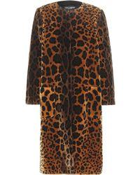 Dolce & Gabbana - Printed Velvet Silk-Blend Coat - Lyst
