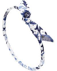 Maison Michel - Danny Printed Cotton Headband - Lyst