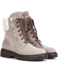 Moncler - New Viviane Suede Ankle Boots - Lyst