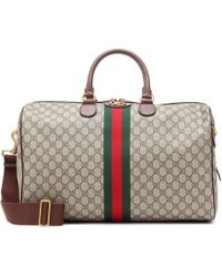 Gucci - Ophidia Gg Supreme Logo Weekend Bag - Lyst