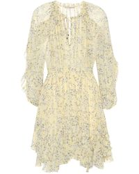Ulla Johnson - Alissa Floral-printed Silk Minidress - Lyst