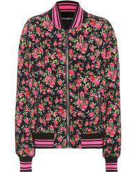 Dolce & Gabbana - Floral-printed Bomber Jacket - Lyst