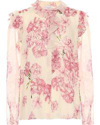 Giambattista Valli - Floral-printed Silk Top - Lyst