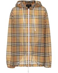 Burberry | Checked Hooded Jacket | Lyst