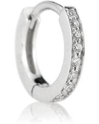 Repossi - Arete único Berbere de oro blanco con diamantes - Lyst