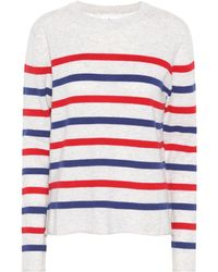 Velvet - Jorgie Striped Cashmere Sweater - Lyst