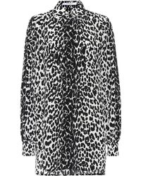 Givenchy - Leopard Silk Shirt Dress - Lyst