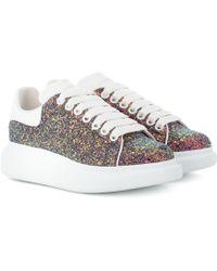 Alexander McQueen - Sneakers aus Leder mit Glitter - Lyst