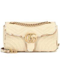 8149d4ad9 Gucci Gg Marmont Matelassé Shoulder Bag in Yellow - Lyst