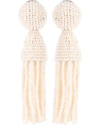Oscar de la Renta - Faux-pearl Tassel Earrings - Lyst
