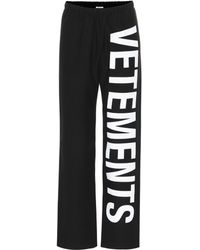Vetements Printed Cotton Trackpants