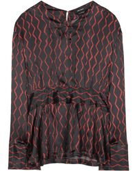 Isabel Marant - Siasi Printed Silk-satin Blouse - Lyst