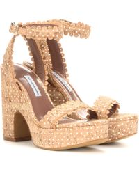 Tabitha Simmons - Harlow Perforated Cork Sandals - Lyst