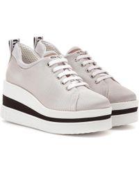 Miu Miu - Plateau-Sneakers aus Nylon - Lyst