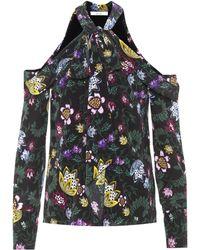 Erdem - Aila Floral-printed Silk Blouse - Lyst