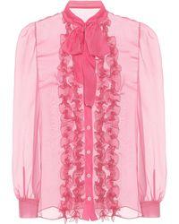Lace pussybow blouse Balenciaga Discounts r2PVfspQj