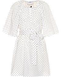 Marysia Swim - Moonstone Belted Fil Coupé Cotton Mini Dress - Lyst