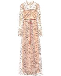 Monique Lhuillier - Embellished Tulle Gown - Lyst