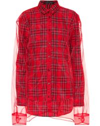 Y. Project - Layered Plaid Shirt - Lyst
