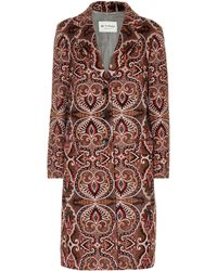 Etro - Wool And Mohair-blend Coat - Lyst