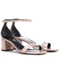 Saint Laurent - Patent Leather Sandals - Lyst