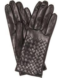 Bottega Veneta - Intrecciato-Handschuhe aus Leder - Lyst
