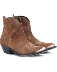 Golden Goose Deluxe Brand - Ankle Boots Young aus Veloursleder - Lyst