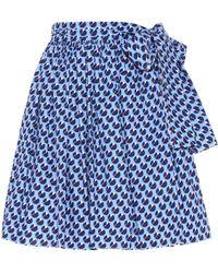 Miu Miu - Exclusive To Mytheresa. Com – Printed Cotton Skirt - Lyst