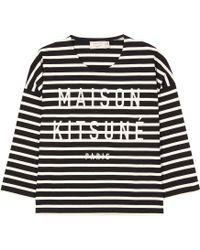 Maison Kitsuné - Marin Embroidered Sweater - Lyst