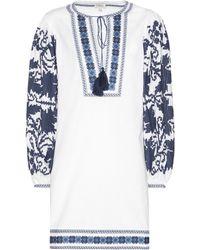 Talitha - Salma Embroidered Cotton Dress - Lyst