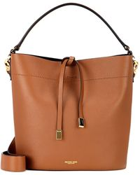Michael Kors - Miranda Leather Bucket Bag - Lyst