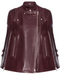 Givenchy - Leather Cape - Lyst