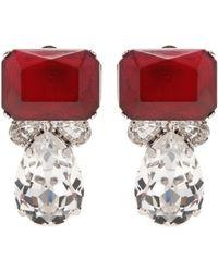 Carolina Herrera - Mytheresa. Com Exclusive Crystal-embellished Clip-on Earrings - Lyst