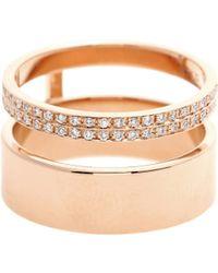 Repossi - Berbere Module 18kt Rose Gold Ring With Diamonds - Lyst